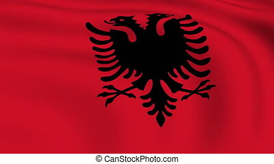 Flying Flag of Albania | LOOPED |