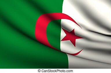 Flying Flag of Algeria | All Countries Collection |