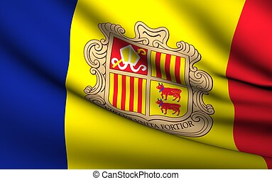 Flying Flag of Andorra | All Countries Collection |