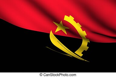 Flying Flag of Angola | All Countries Collection |