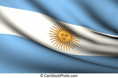 Flying Flag of Argentina | All Countries Collection |