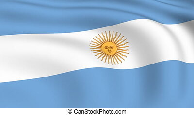 Flying Flag of Argentina | LOOPED |