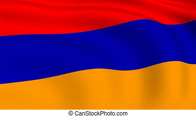 Flying Flag of Armenia | LOOPED |