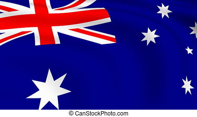 Flying Flag of Australia | LOOPED |