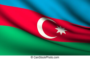 Flying Flag of Azerbaijan | All Countries Collection |
