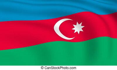 Flying Flag of Azerbaijan | LOOPED |