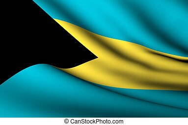Flying Flag of Bahamas | All Countries Collection |