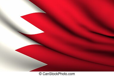 Flying Flag of Bahrain | All Countries Collection |