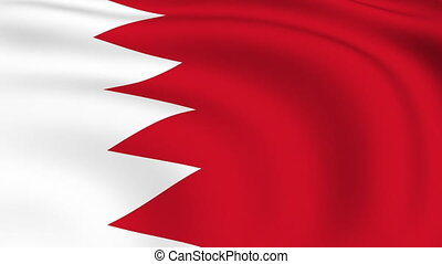 Flying Flag of Bahrain | LOOPED |