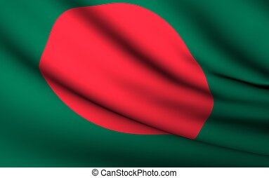 Flying Flag of Bangladesh | All Countries Collection |