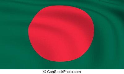 Flying Flag of Bangladesh | LOOPED |