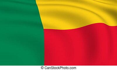 Flying Flag of Benin | LOOPED |