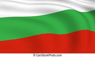 Flying Flag of Bulgaria | LOOPED |