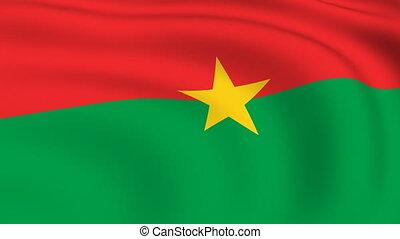 Flying Flag of Burkina Faso   LOOPED  