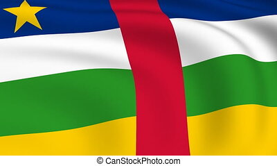 Flying Flag of Central African Republic | LOOPED |