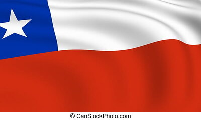 Flying Flag of Chile | LOOPED |