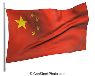 Flying Flag of China - All Countries