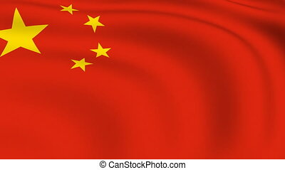 Flying Flag of China | LOOPED |