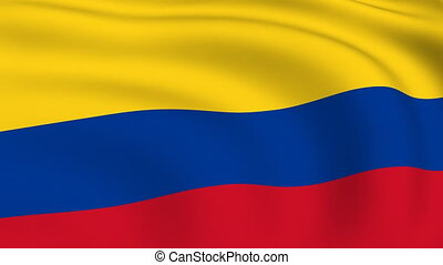Flying Flag of Colombia | LOOPED |