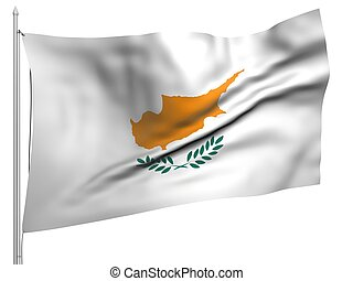 Flying Flag of Cyprus - All Countries