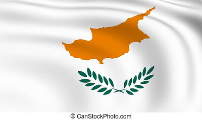 Flying Flag of Cyprus | LOOPED |