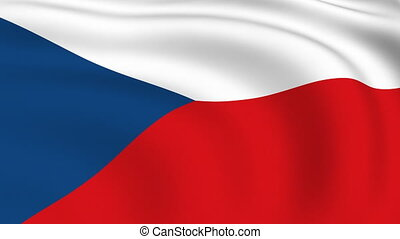Flying Flag of Czech Republic | LOOPED |