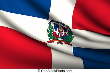 Flying Flag of Dominican Republic | All Countries Collection...
