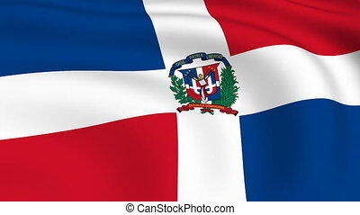 Flying Flag of DOMINICAN REPUBLIC | LOOPED |