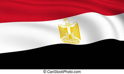 Flying Flag of EGYPT | LOOPED |