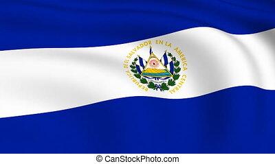 Flying Flag of EL SALVADOR | LOOPED |