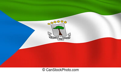 Flying Flag of EQUATORIAL GUINEA | LOOPED |