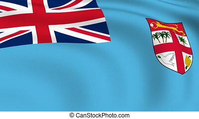 Flying Flag of FIJI | LOOPED |