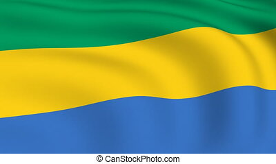 Flying Flag of GABON | LOOPED |