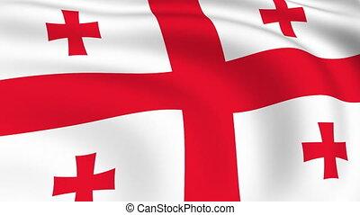 Flying Flag of GEORGIA | LOOPED |