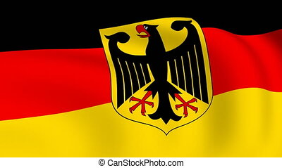 Flying Flag of GERMANY | LOOPED |