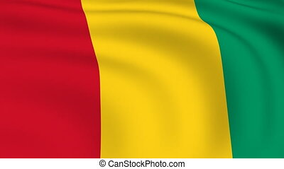 Flying Flag of GUINEA BISSAU | LOOPED |