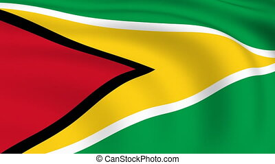Flying Flag of GUYANA | LOOPED |