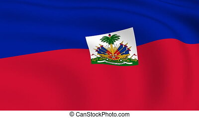 Flying Flag of HAITI | LOOPED |