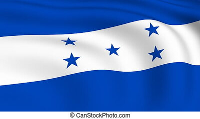 Flying Flag of HONDURAS | LOOPED |