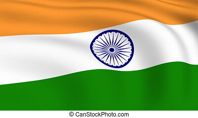 Flying Flag of INDIA | LOOPED |