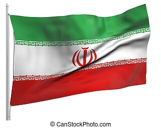 Flying Flag of Iran - All Countries