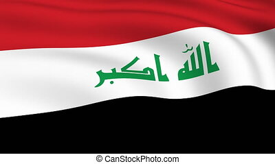 Flying Flag of IRAQ | LOOPED |