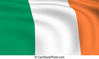 Flying Flag of IRELAND | LOOPED |