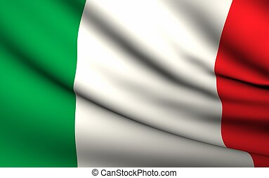 Flying Flag of Italy | All Countries Collection |