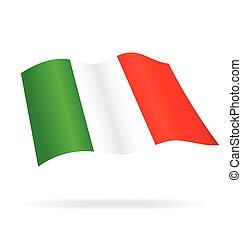Flying Flag of Italy Italia Vector Image