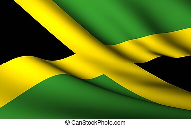 Flying Flag of Jamaica | All Countries Collection |