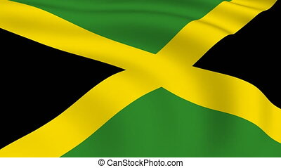 Flying Flag of JAMAICA | LOOPED |