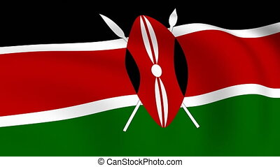 Flying Flag of KENYA | LOOPED |