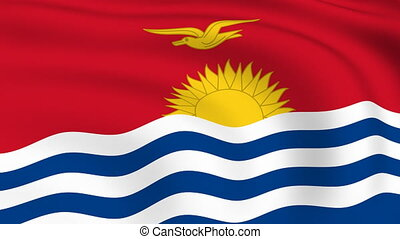 Flying Flag of KIRIBATI | LOOPED |