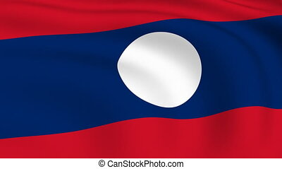 Flying Flag of LAOS | LOOPED |